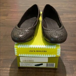 Jack Rogers size 8 chocolate brown flats